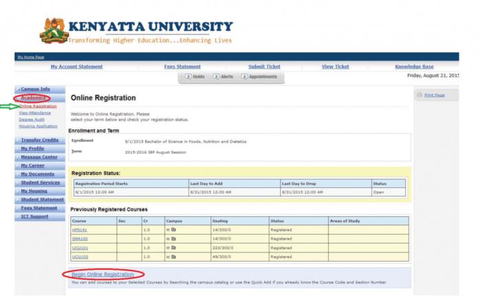 KU Student Portal