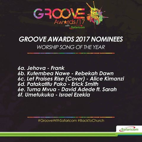 Full List of Groove Awards 2017 Nominees