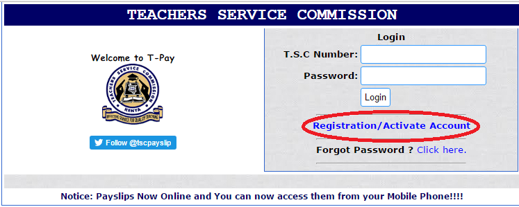 TSC payslip online registration and download • Urban Kenyans
