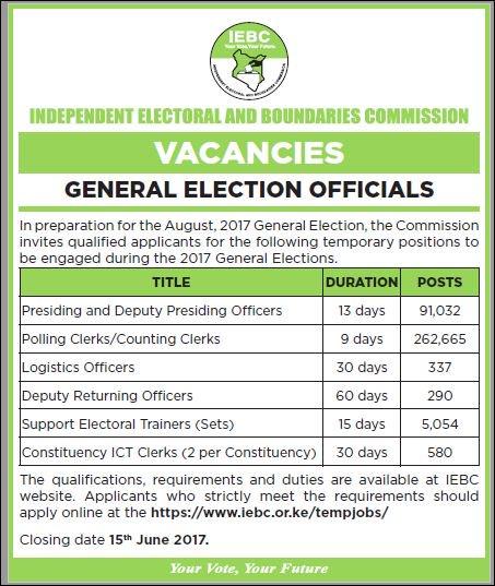 IEBC JOBS