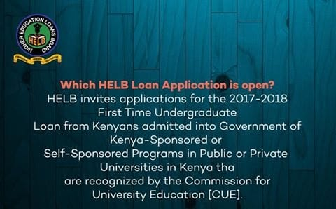 HELB First Time Undergraduate Loan
