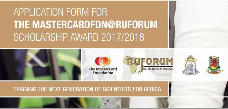 RUFORUM MasterCard Foundation Scholarships