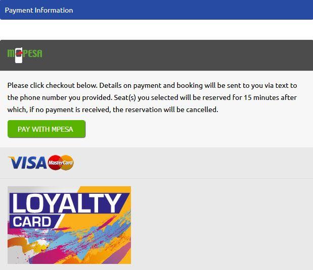 Modern Coast Online Booking