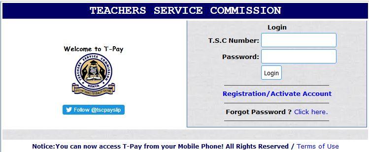TSC Online Payslip