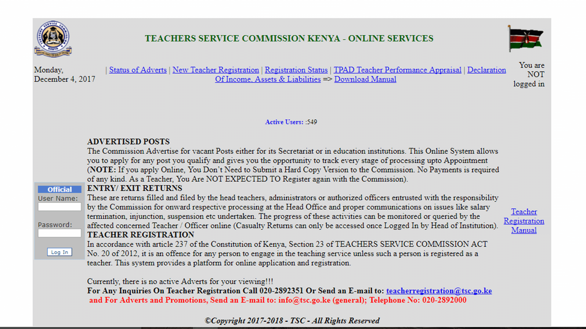 How to Apply for TSC Job Online