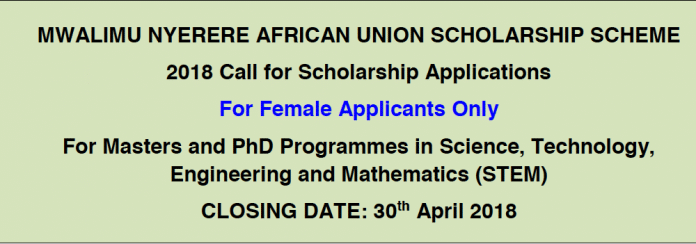 Mwalimu Nyerere (STEM) Scholarship Scheme For African Union