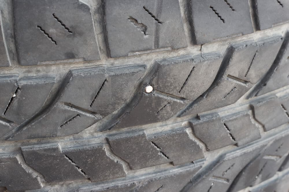 Nail in the tire