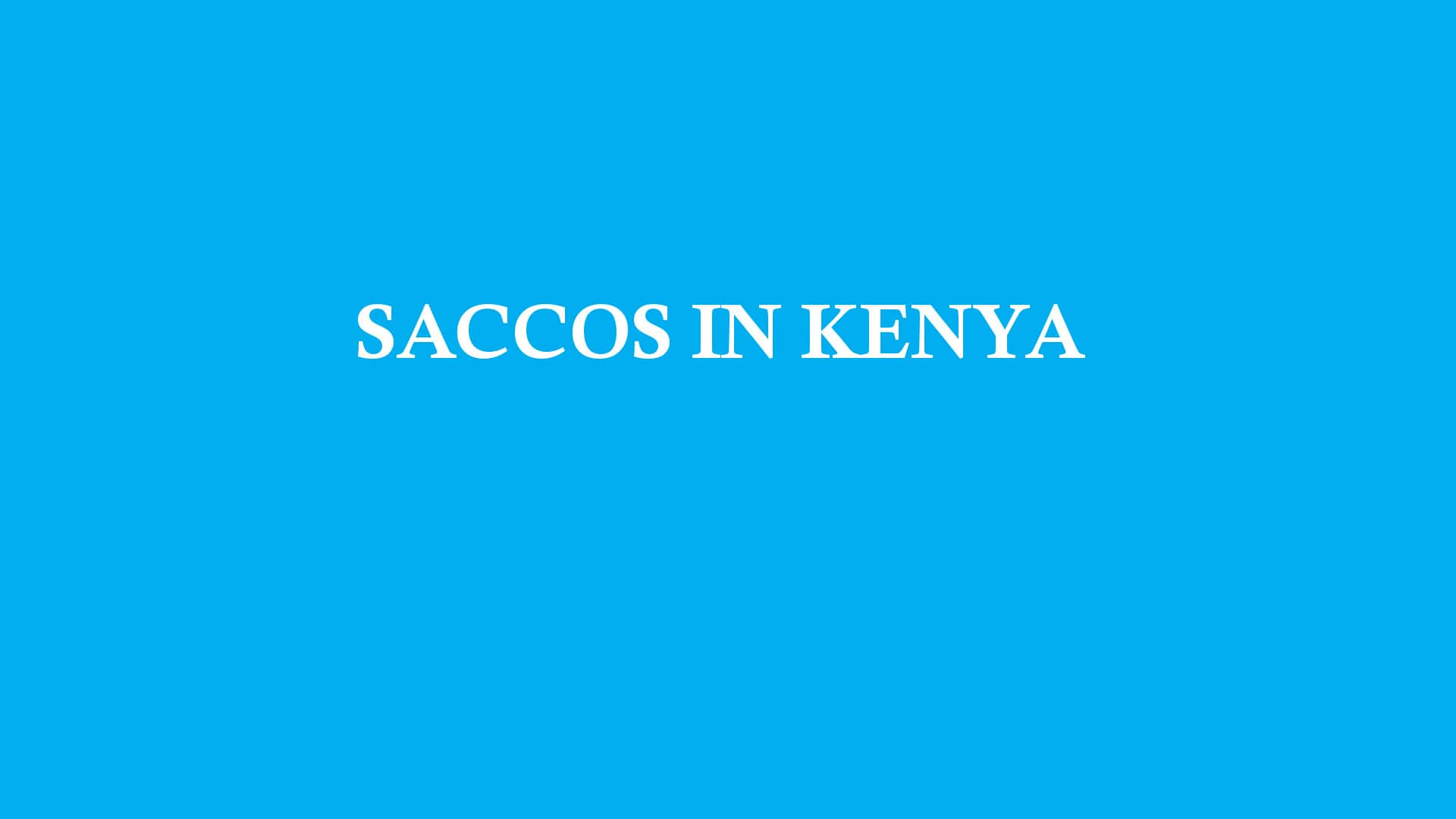 saccos in kenya