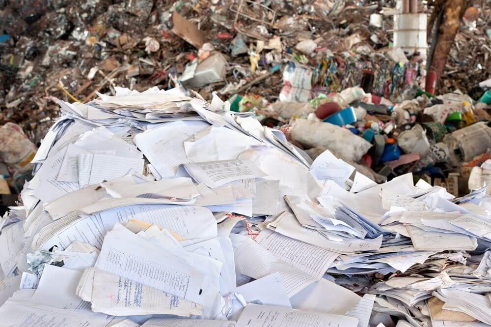 Paper landfills
