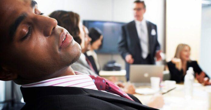 Boring work meetings