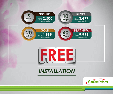 Safaricom Home Fibre Prices and Packages