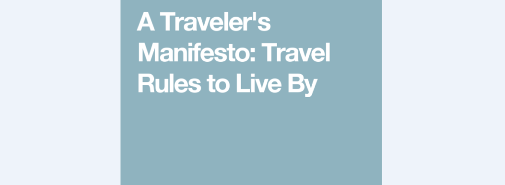 travel rules