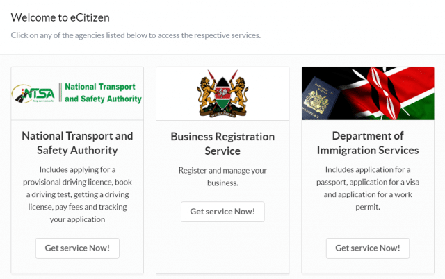 eCitizen Company Registration Process